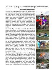 Bundeslager Bericht - Pfadi Weiach
