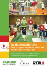 Evaluationsbericht Kampagne Kinderturnen