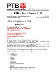 PTB – Fun – Dance CUP - Pfälzer Turnerbund