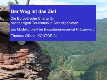 des Projektes - Naturpark Pfälzerwald