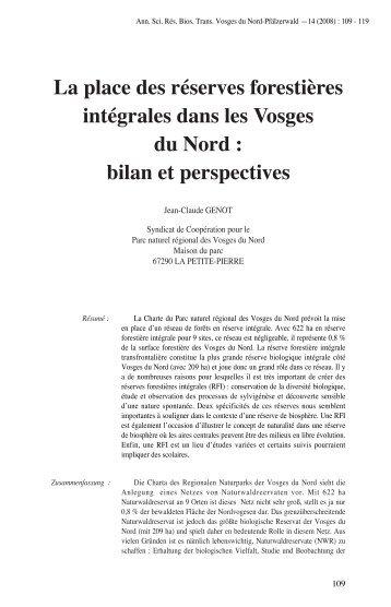 La place des réserves forestières intégrales dans les Vosges du ...