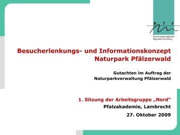 Besucherlenkungs- und Informationskonzept Naturpark Pfälzerwald