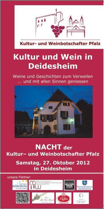 Kultur und Wein in Deidesheim - Pfalz