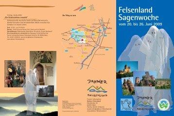 vom 20. bis 26. Juni 2009 Felsenland Sagenwoche - Pfalz