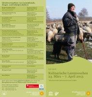 Kulinarische Lammwochen 23. März – 7. April 2013 - Pfalz