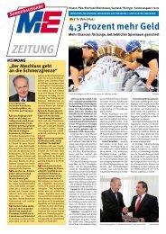 Sonderausgabe der M+E Zeitung zum Tarifabschluss ... - PfalzMetall