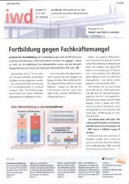 Fortbi ldung gegen Fachkräftemangel - PfalzMetall