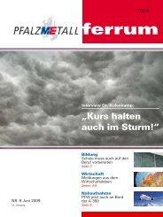 ferrum Ausgabe 6-2009 (500.55 kB) - PfalzMetall
