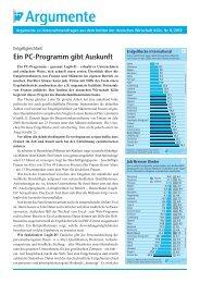 Ein PC-Programm gibt Auskunft - PfalzMetall