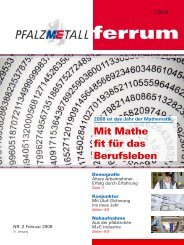 ferrum Ausgabe 2-2008 (555.79 kB) - PfalzMetall