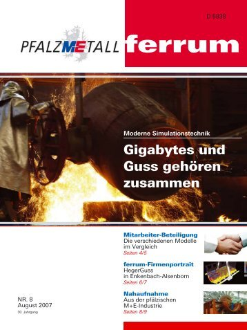 ferrum Ausgabe 8-2007 (531.71 kB) - PfalzMetall