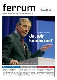 ferrum Ausgabe 3-2010 - PfalzMetall