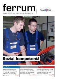 ferrum Ausgabe 6-2010 - PfalzMetall