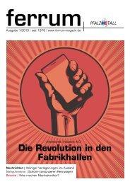 ferrum Ausgabe 1-2013 - PfalzMetall