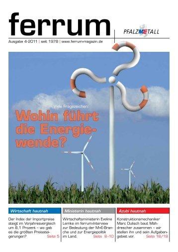 ferrum Ausgabe 4-2011 - PfalzMetall