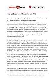 Herzblut-Strom bringt Power für den FCK PDF, 39 kB - Pfalzwerke