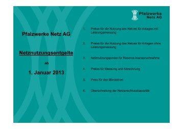 4. Preise für Messung und Abrechnung - Pfalzwerke