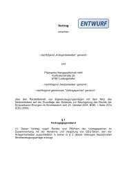 Vertrag über die Einspeisung elektrischer Energie - Pfalzwerke