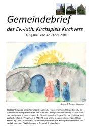 Ausgabe Februar - April 2010 - Website Pfarramt Kirchvers
