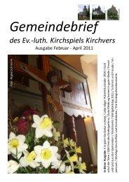 Ausgabe Februar - April 2011 - Website Pfarramt Kirchvers