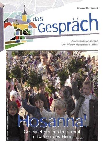 Pfarrblatt 2010 - Pfarre Hausmannstätten