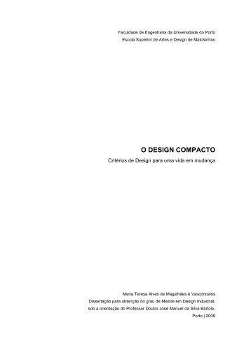 O DESIGN COMPACTO - Repositório Aberto da Universidade do ...