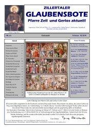 Nr. 61, Ausgabe 2, Feburar 2010 - Pfarre Zell am Ziller - Zell
