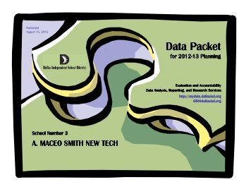 Data Packet - Dallas Independent School District