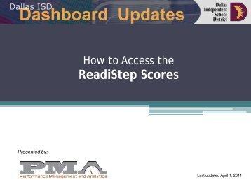 ReadiStep Scores