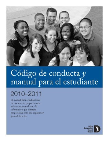 Código de conducta y manual para el estudiante - Dallas ...