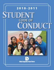 Table of Contents - Dallas Independent School District