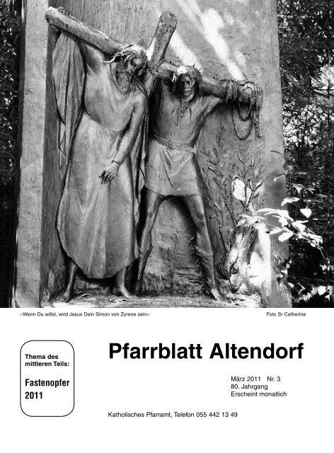 Pfarrblatt Altendorf - Pfarrei St.Michael Altendorf