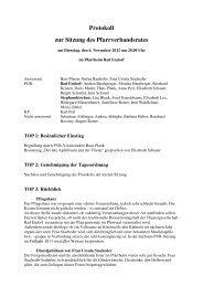 Protokoll zur Sitzung am 6-11-2012 - Kath. Pfarrverband Bad Endorf