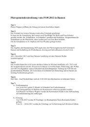 Protokoll vom 19.9.2012 - der Pfarreien Geltendorf - Kaltenberg ...