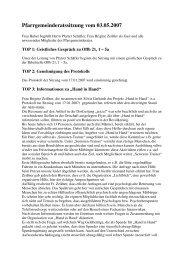 Protokoll vom 3.5.2007