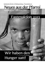 Fastenzeit 2013 - Pfarrei Heldmannsberg