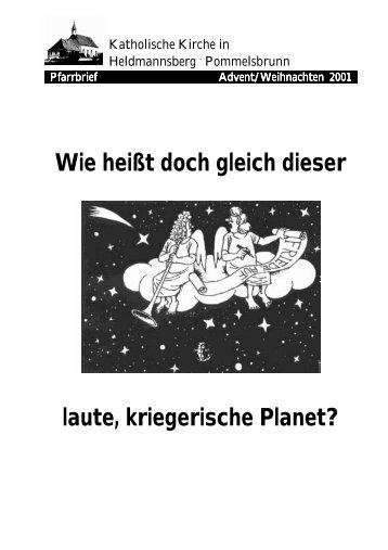 Weihnachten 2001 - Pfarrei Heldmannsberg