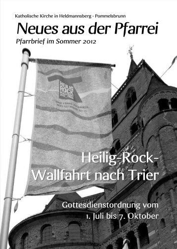 Sommer 2012 - Pfarrei Heldmannsberg