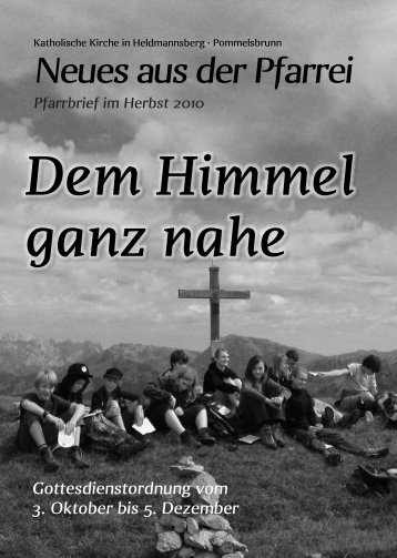 Herbst 2010 - Pfarrei Heldmannsberg