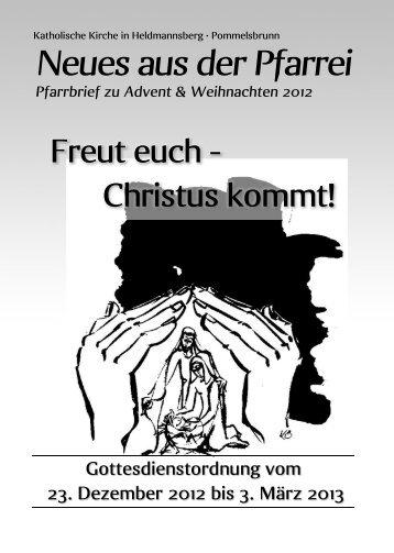 Weihnachten 2012 - Pfarrei Heldmannsberg