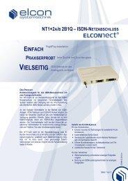 NT1+2A/B 2B1Q–ISDN-NETZABSCHLUSS ... - Elcon Systemtechnik