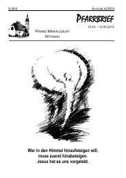 15.04.-12.05.2013 - Pfarrei Nittenau