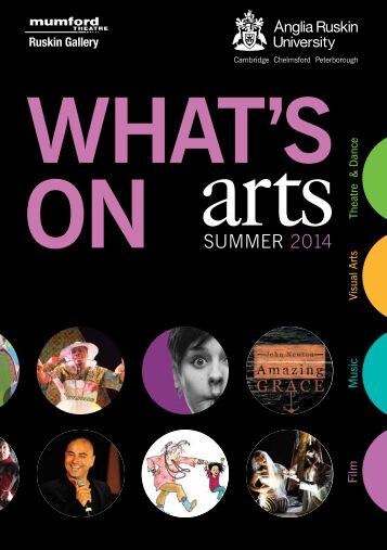Anglia Ruskin Arts brochure Summer 2014