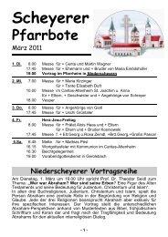 Scheyerer - Pfarrei Scheyern