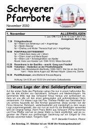 Scheyerer Pfarrbote - Pfarrei Scheyern