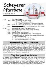 Februar 2013 - Pfarrei Scheyern
