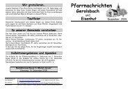 Pfarrnachrichten - Pfarrei Scheyern