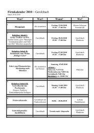 Firmkalender 2010 – Gerolsbach - Pfarrei Scheyern