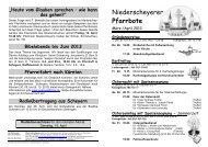 April 2013 - Pfarrei Scheyern
