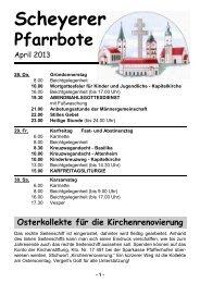 Pfarrbote - Pfarrei Scheyern